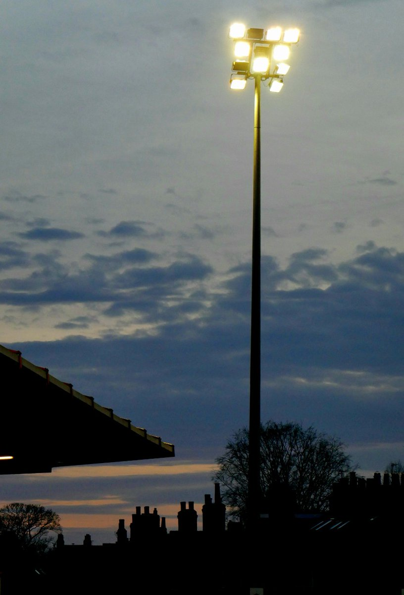 Twilight at Bootham Crescent. #ycfc #football #photography