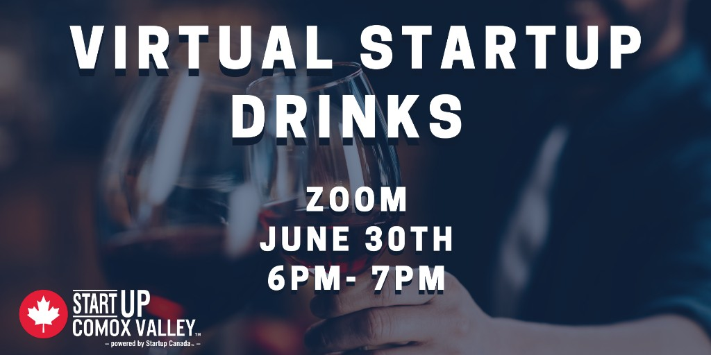 Grab your favourite drink and join us on ZOOM for a casual meet and greet with Startup Comox Valley co-leads and supporters!  🚨Space is limited, so please RSVP via DM to receive the ZOOM invite in your inbox prior to the event. 🚨 https://t.co/3MJw9jpSHc