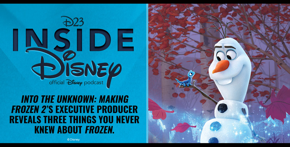 NEW: The Executive Producer of Into the Unknown: Making Frozen 2, talks about her Disney journey and reveals three things you never knew about #Frozen: bit.ly/2NwrXP2 #D23InsideDisney Spotify: spoti.fi/3aBF8Zj Apple Podcasts: apple.co/2NQOLda