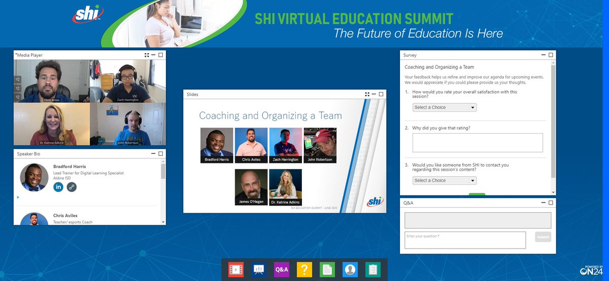 """Starting off our next session """"Coaching and Organizing a Team""""! Are you following along? #SHIEduSummit #esports https://t.co/Pq9EL2jbt2"""