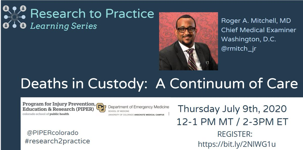 Be sure to register for this insightful webinar centered on the role of Medical Examiners in criminal justice reform and hosted by AFFIRM Advisory Board Member @rmitch_jr!   Happening on July 9th! https://t.co/Za9pxl2nt6