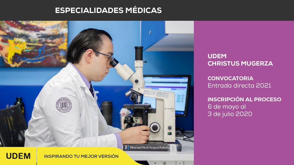📆 👌 Ampliamos la fecha de inscripciones para el proceso de selección de Especialidades Médicas 2021 de entrada directa de la @udem en el hospital @christusmx. Conoce los requisitos aquí 👉 https://t.co/gwma5iTbBV ✨ https://t.co/2epIxtsV0l