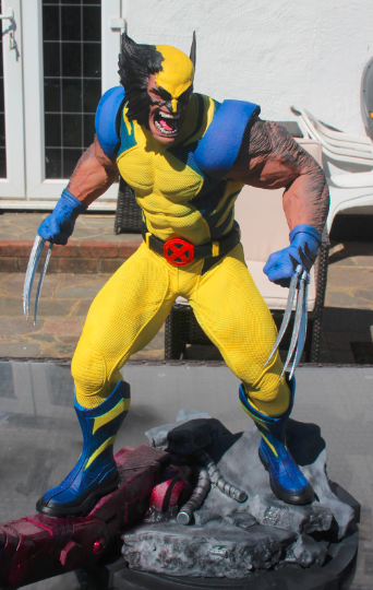 It's a #Marvel(lous) #Monday!   Check out #HoneyBadgerPrintandPaint's latest finished model! We love seeing what they create using our #filaments!  Who is your favourite X-men character??