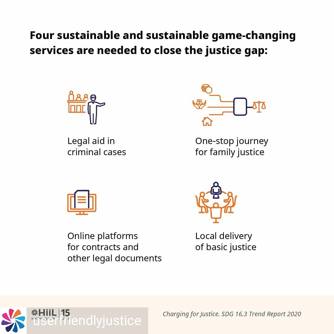 Gamechanging justice services that dramatically increase #a2j must take root in a sector that usually aims for stability, calm deliberation and incremental change.   We made the business case for these 4 inside the #SDG16 Trend Report, Charging for Justice https://t.co/lAipGX1Q5R https://t.co/hqjzfKHvAT