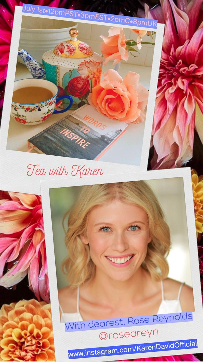 .@RoseAReynolds Miss you so much! Can't wait to catch up and have a cuppa tea with you next Wednesday! 😘❤️😘❤️🌸☕️ https://t.co/YQWzrlsFfa