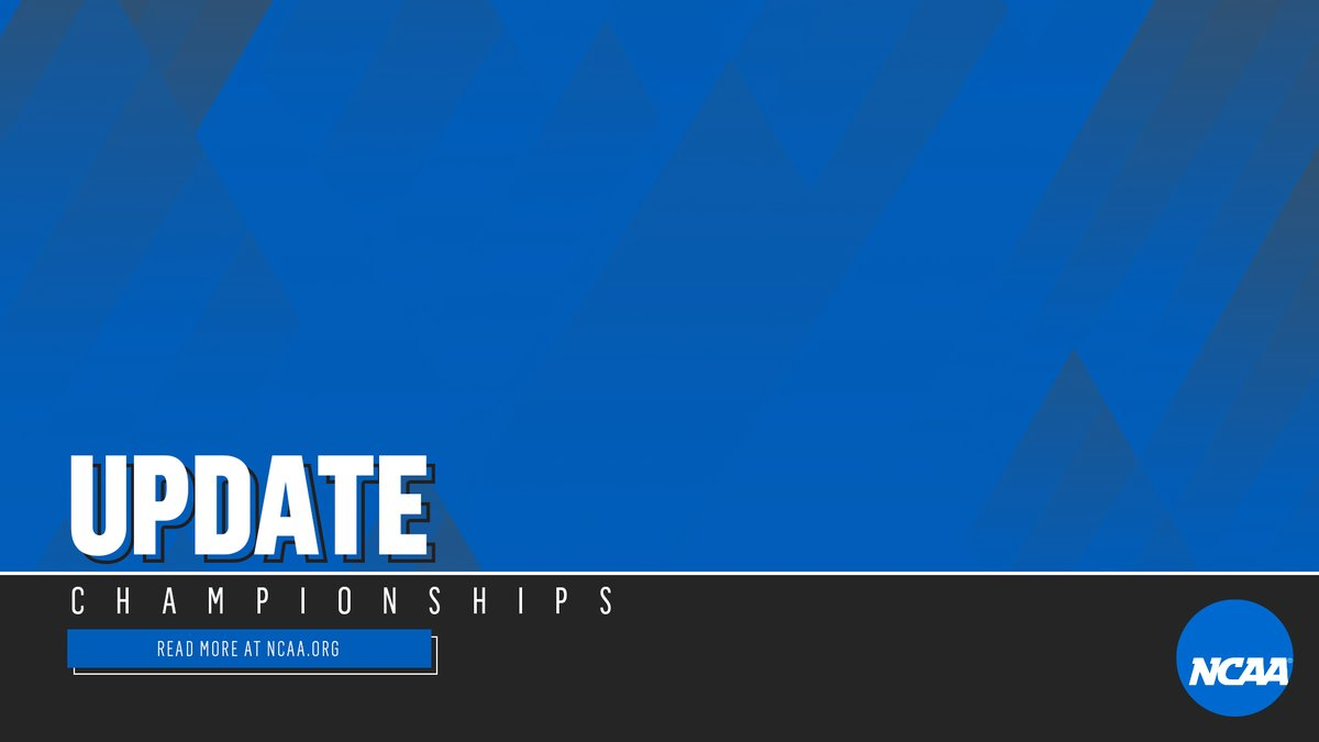 The #NCAAD3 Championships Committee on Tuesday recommended that winter and spring 2021 national championship brackets and field sizes not exceed 75% of their standard capacity: on.ncaa.com/2f6vd