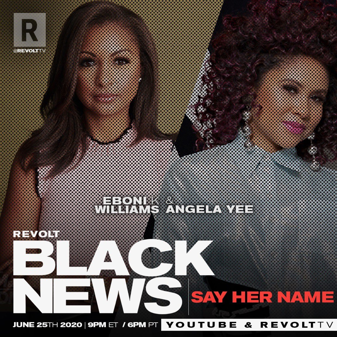 Say HER Name!  #REVOLTBLACKNEWS is going IN on respecting & protecting Black Women.  @AngelaYee, @RepKarenBass, @MsPackyetti, and more join to discuss legislation that changes the game for Black Women, Russell Simmons & his many accusers, and much more!! @revolttv @youtube @diddy https://t.co/zR3bJIpJsL