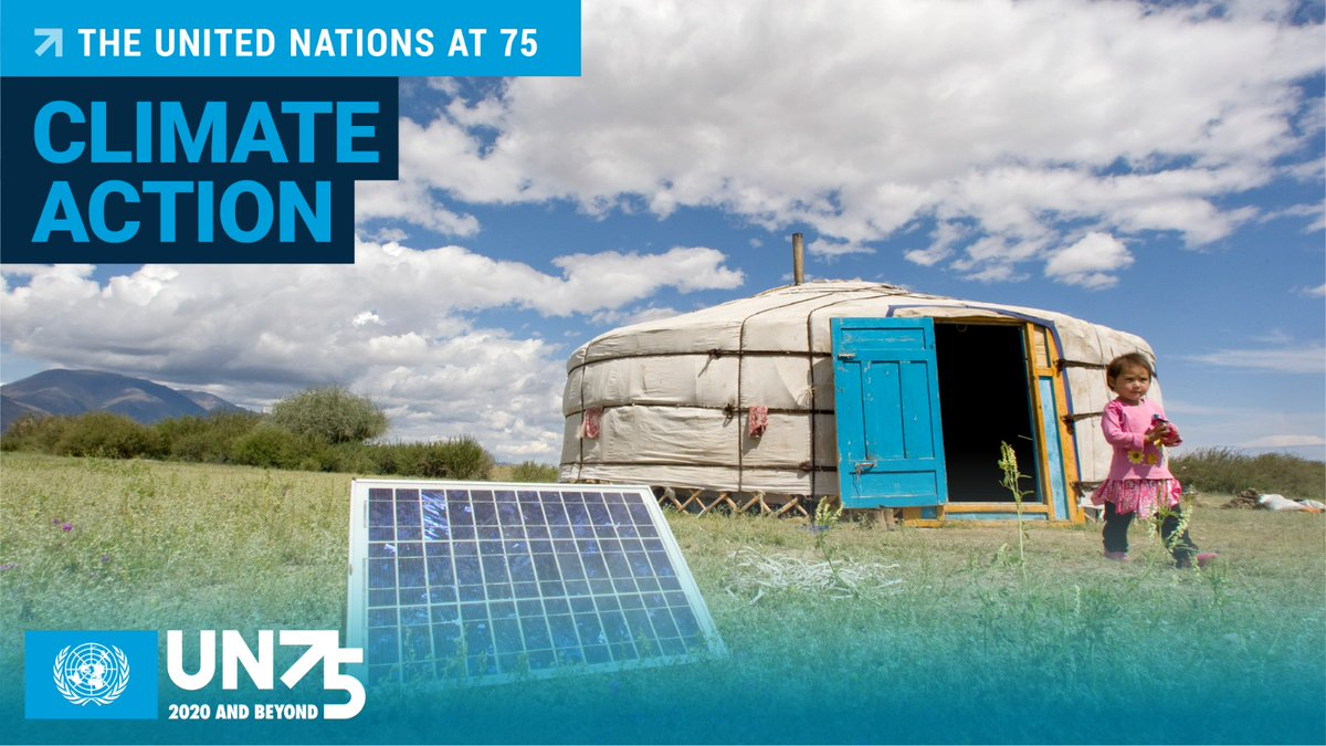 From the #COVID19 pandemic to the climate crisis, the UN has been at the forefront of finding solutions to challenges that respect no borders. At #UN75, lets take #ClimateAction to create a future of prosperity & well-being, while protecting our planet. bit.ly/3eKG13L