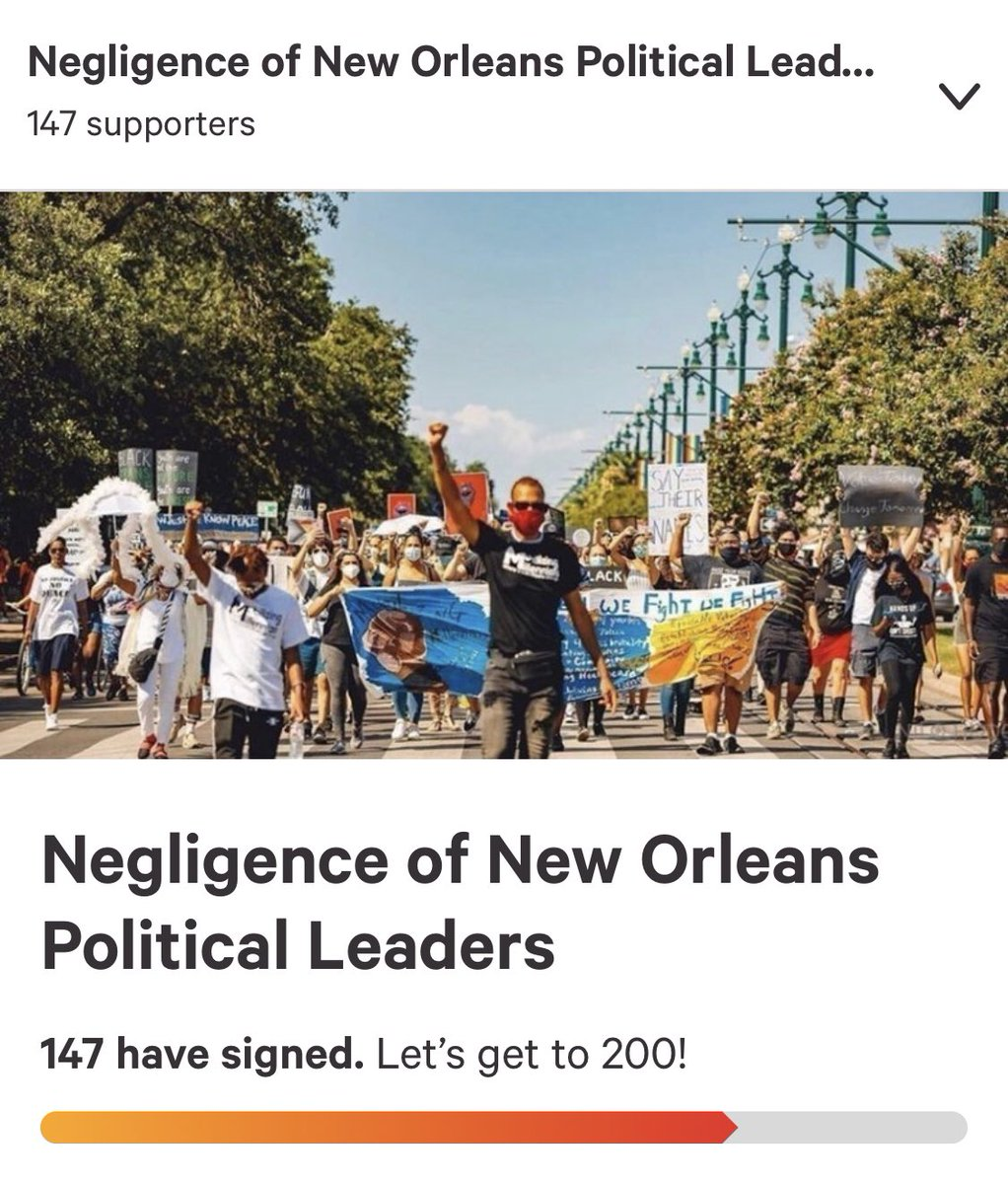 *link in bio* Published yesterday, we have 147 signatures! Let's get to 200 today! Be sure to SHARE!   #MobilizingMillennials #AffordableHousing #EquitableEducation #Healthcare #FelonsRightToVote #DecriminalizationOfMarijuana #DecriminalizationOfSexWork #DefundPolice #NOPD #NOLA https://t.co/2kVIQU9Hys