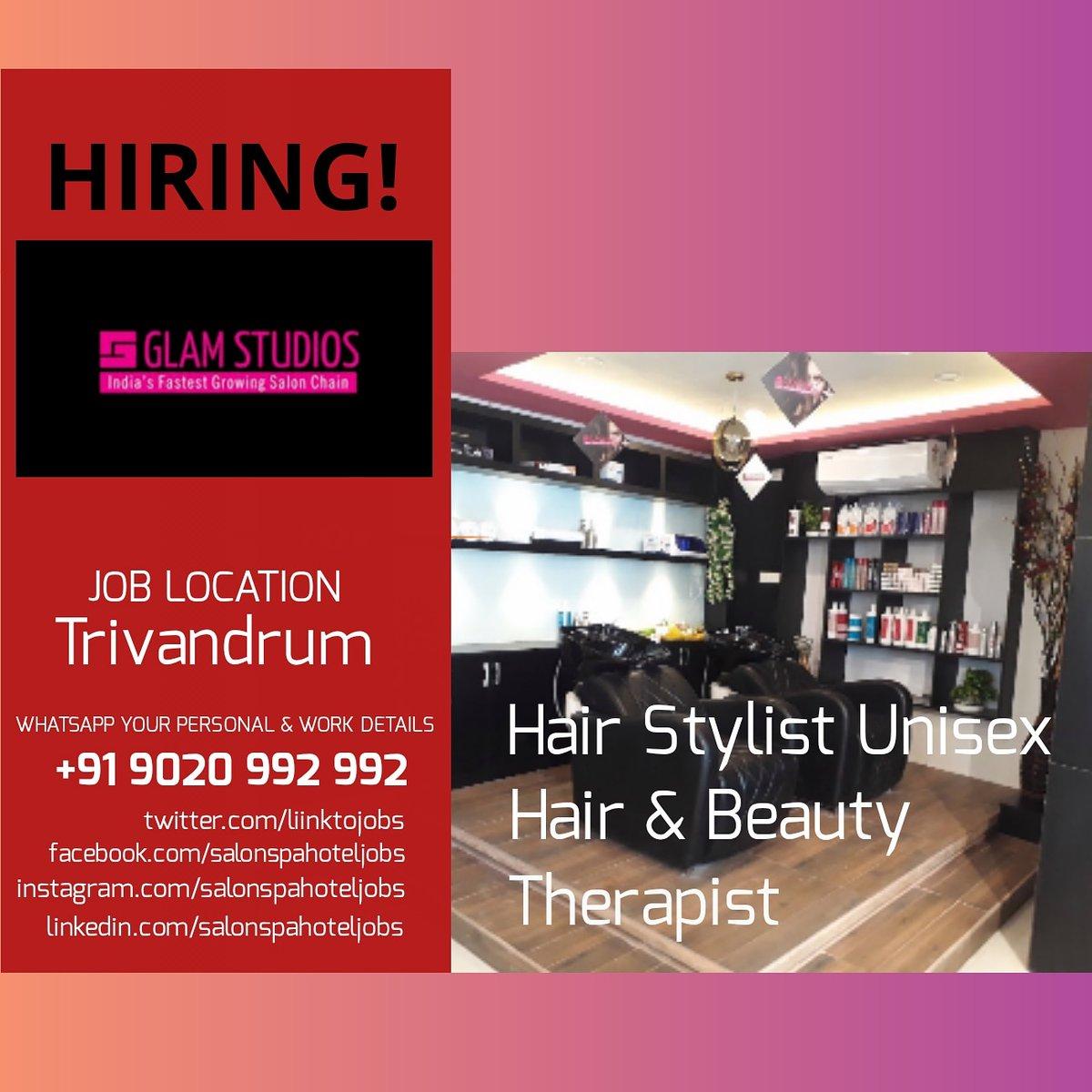 #salonspahoteljobs #salon #salonjobs #hairstylist #jobs #beautician #keralasalon #hairsalonjobs #salonlife #salonowner #salonnails #salonprofessional #spajobs #keralajobs #indiasalon  #indiasalonjobs #indianmakeupartist #hairstyle #salonjob #jobsearch #spasalon #spa #spajobpic.twitter.com/czCRYqrn8G