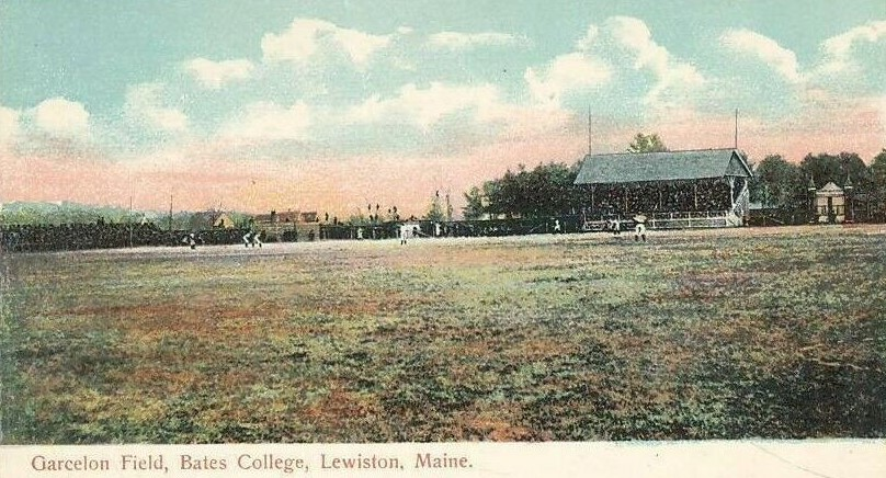 An early 1900s baseball game at @BatesCollege.