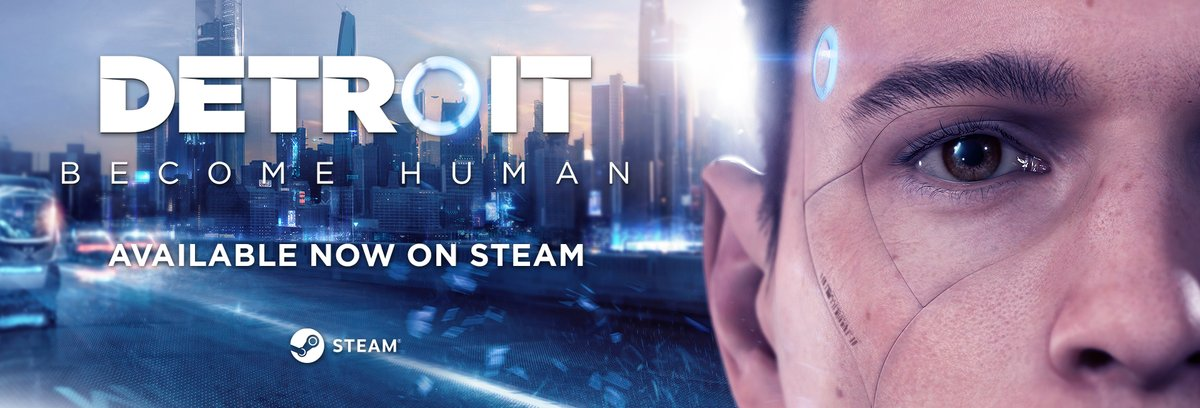 Detroit: Become Human is finally coming to Steam - To celebrate i'm giving away 2 copies of the game. All you have to do is RT for a chance to win!  I'll be streaming it tomorrow from 5pm BST and will announce the winners then. 😁🤖 #AD https://t.co/7WDrd9mF8c