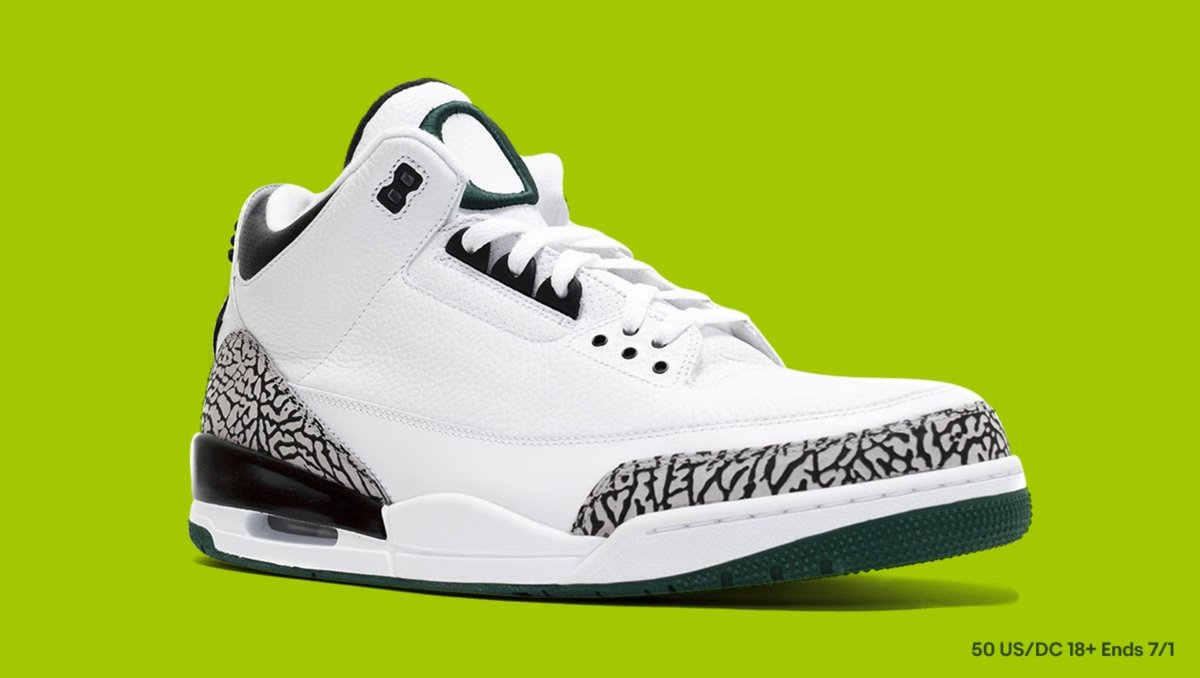 Want to win a pair of size 11 #AirJordan 3 Retro Oregon Ducks Pit Crew White? Here's how:  👟 Follow @ebay 👟 Comment here how many pairs of sneaks are in your closet using #eBaySneakerVault & #Sweepstakes 👟 We'll randomly pick a winner on 7/1   Rules: https://t.co/pUtVsUAtGQ https://t.co/Z44a5l2cOm
