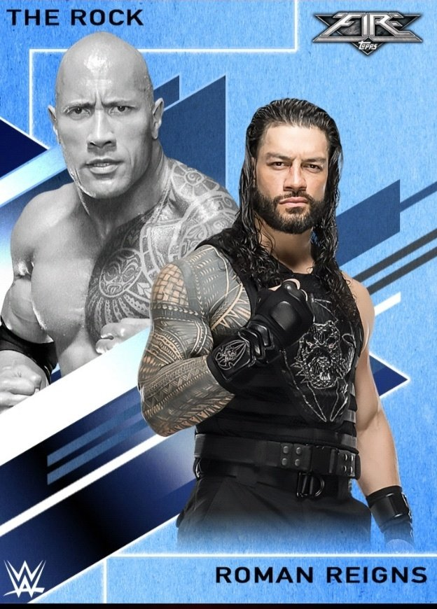 New Topps!! Fire #RomanReigns pic.twitter.com/dtxYicTrQh  by theromanreignsempire.com / Roman Reigns Fansite