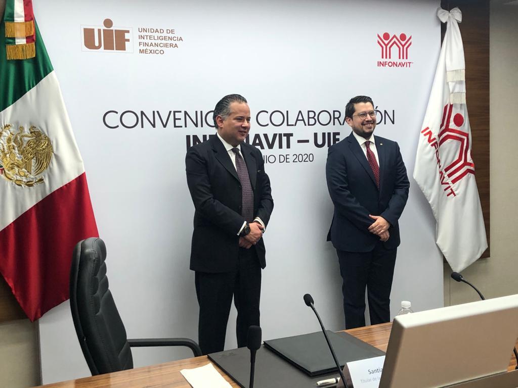 Agradezco a @carlosmartinezv y al @Infonavit la celebración del convenio de colaboración entre nuestras instituciones para combatir el lavado de dinero y la corrupción en la construcción de vivienda. https://t.co/UKHLLEAsu4