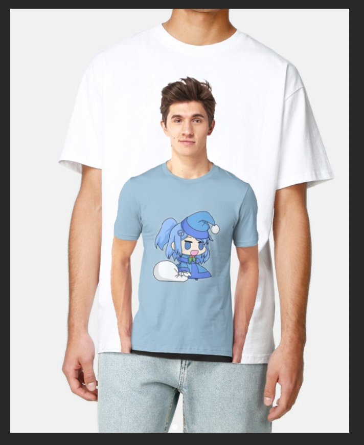 I want to wear a t-shirt of the stock image redbubble guy wearing a t-shirt of a padoru meme edit of my character https://t.co/230WJ52EQV