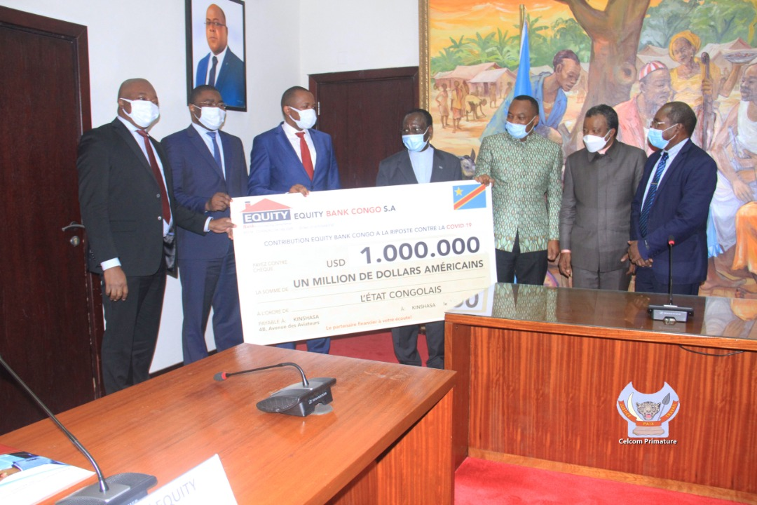 Solidarité à la Riposte contre la COVID-19 : Equity Bank Congo contribue à hauteur d'1 million USD - https://t.co/DNJ6rXCYFx https://t.co/KgJLImYmYb