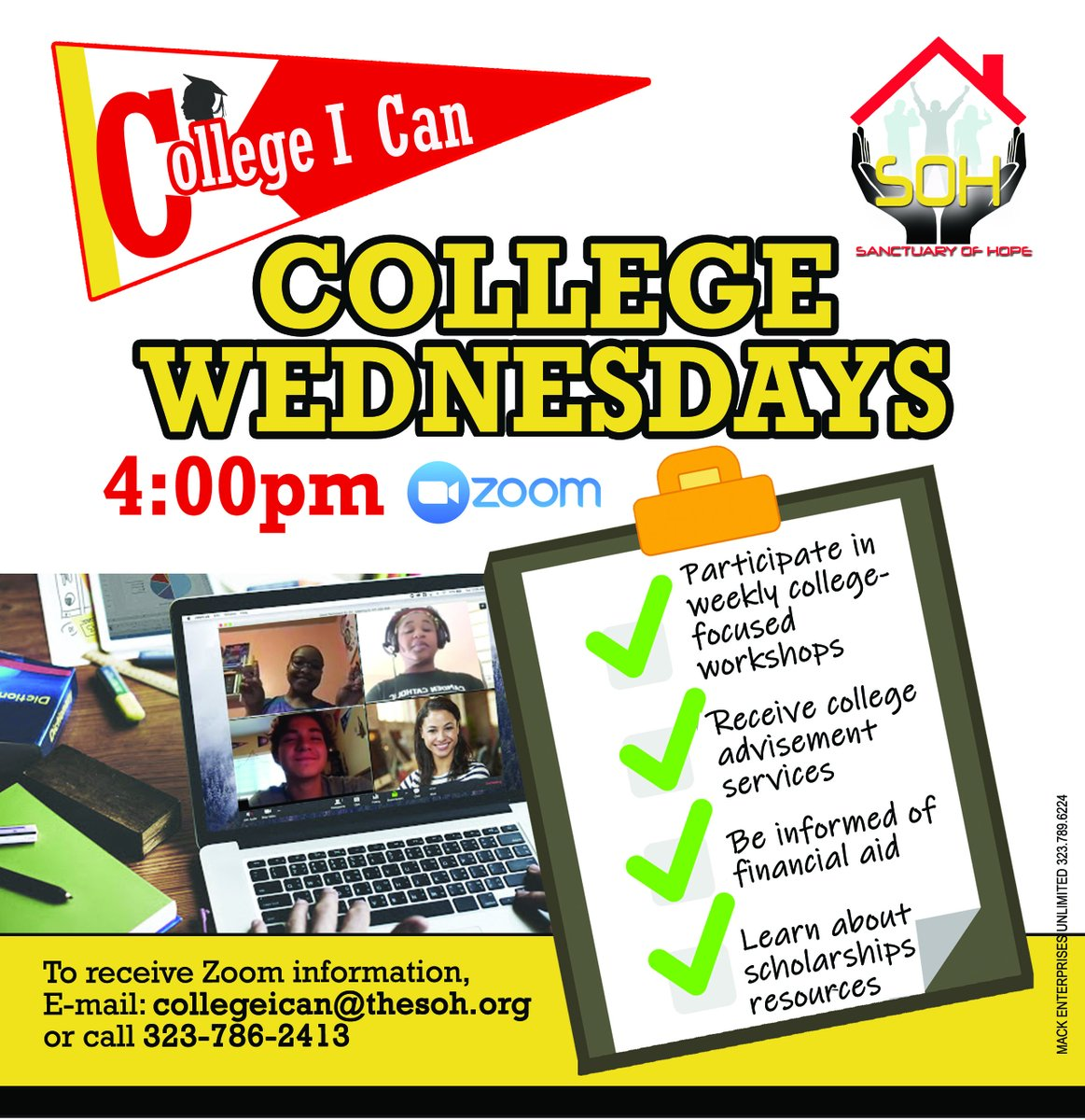 College I Can is back, every Wednesday on zoom! Please RSVP.  #CollegeICan  #HigherLearning #College #YouthResiliency #RonaResource #CollegeSigningDay #RemoteLearning https://t.co/78gFgNoxG7