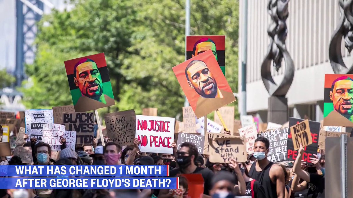 Today marks one month since the death of George Floyd.  @MorganRadford looks back at what has changed since  Watch: