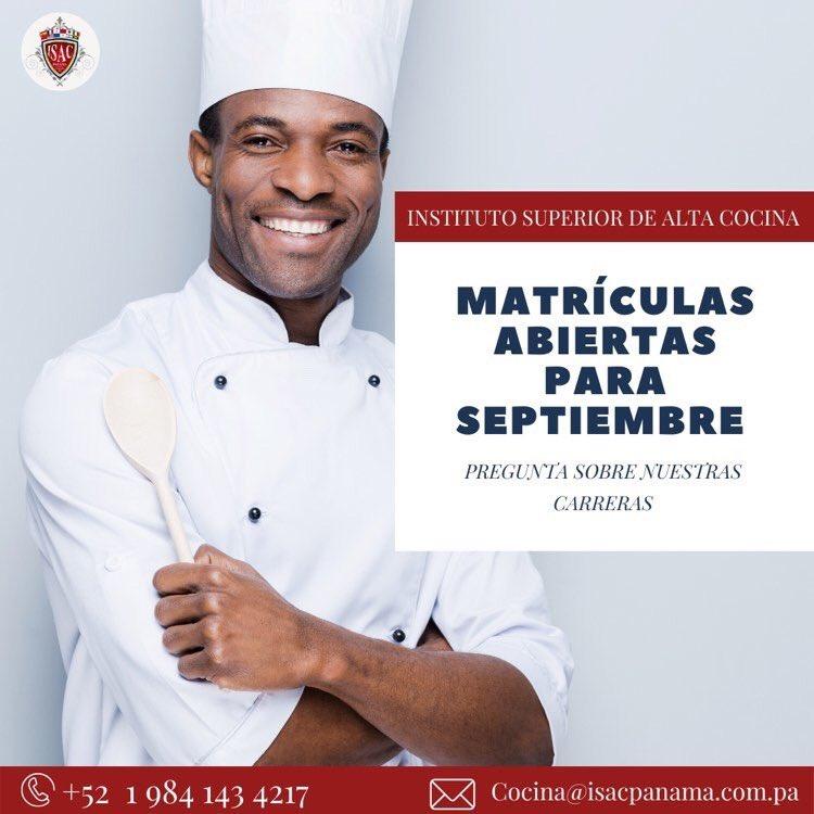 ¿Quieres ser Chef?  Contáctanos y pregunta por nuestras carreras y planes de estudio.  Es hora de hacer tus sueños realidad👨🏽🍳👩🏻🍳💫 📲+5219841434217 📧cocina@isacpanama.com.pa https://t.co/PvAopWXjps