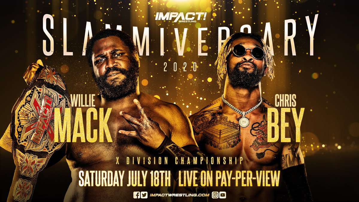 Impact X Division Champion Willie Mack Vs. Chris Bey Announced For Slammiversary