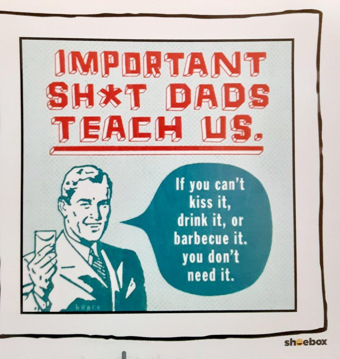 Good advice from Dad on today's calendar. @jcorippo