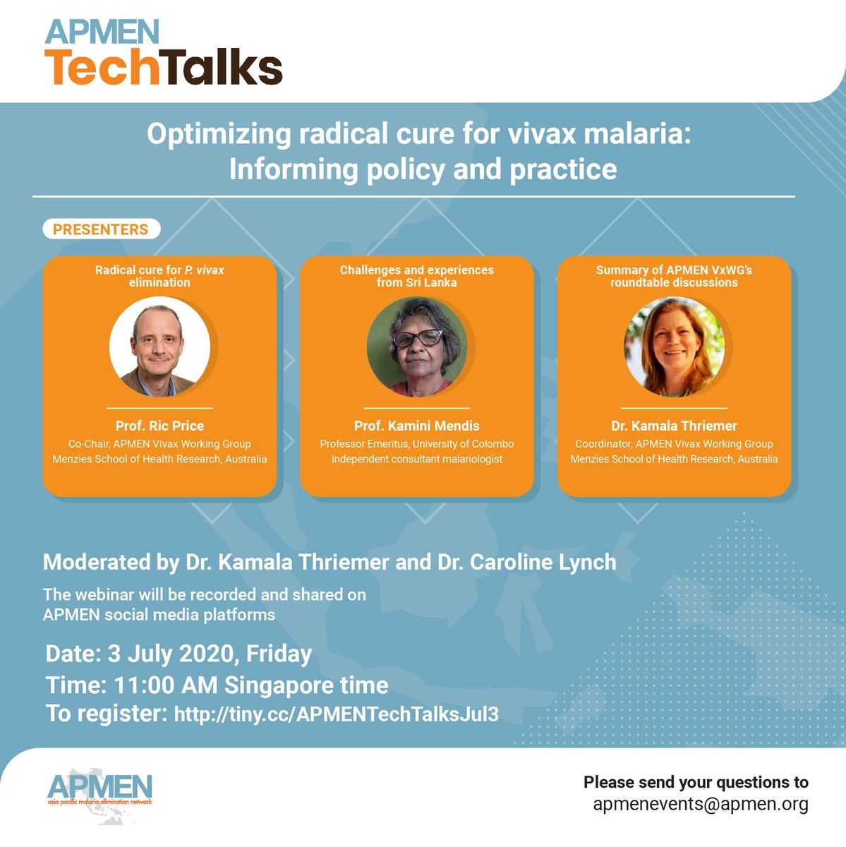 #RT @APLMA_Malaria: RT @APMEN: Join us for a panel discussion on 'Optimizing radical cure for #vivax #malaria: Informing #policy and practice' w/ representatives from https://t.co/QFRSKxAKZK @nhsrcofficial @KKMPutrajaya. Don't miss this 1st APMEN #TechT… https://t.co/XnoeHn2YLu