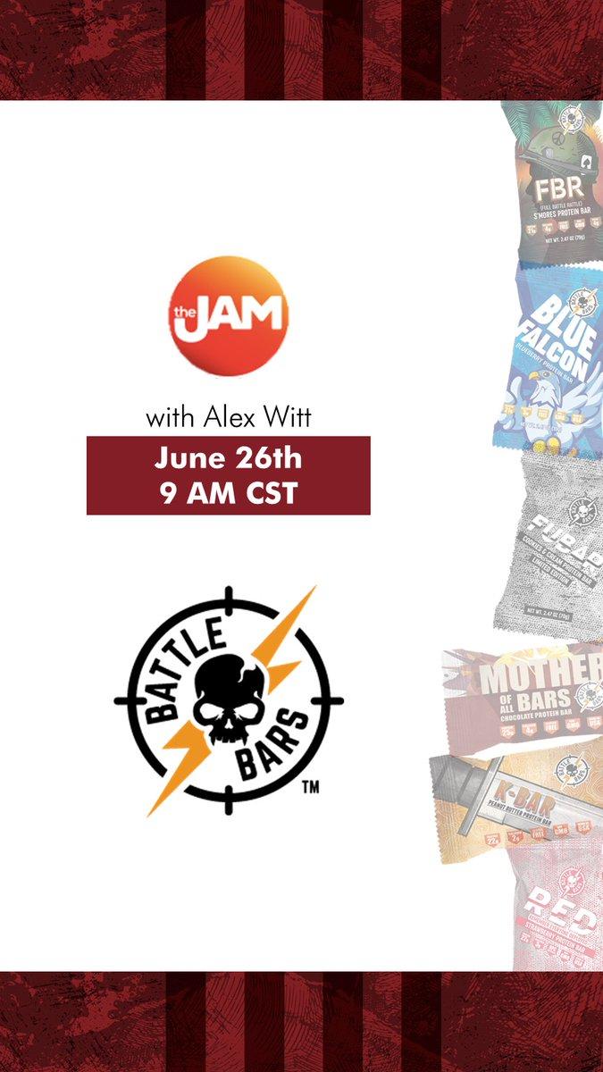 Catch Battle Bars on The Jam TV Show this June 26th, 9AM CST https://t.co/HfePviz9te