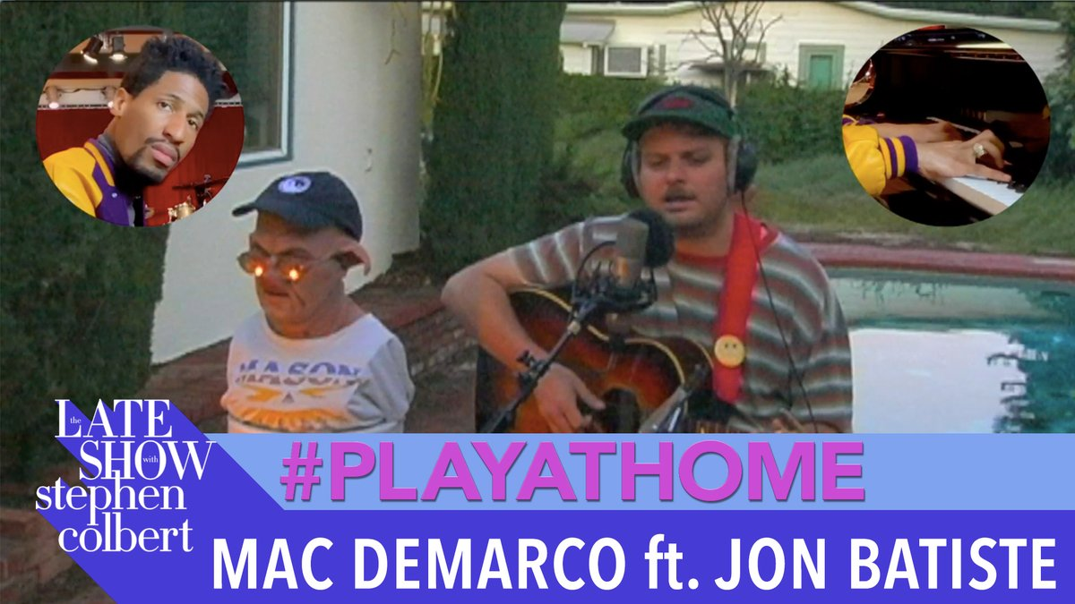 """Mac DeMarco gives a poolside performance of """"Fooled By Love"""" with the help of @JonBatiste! #PlayAtHome"""