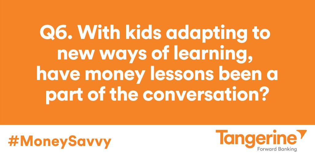 Q6. With kids adapting to new ways of learning, have money lessons been a part of the conversation? #MoneySavvy https://t.co/BaSxyld0hU