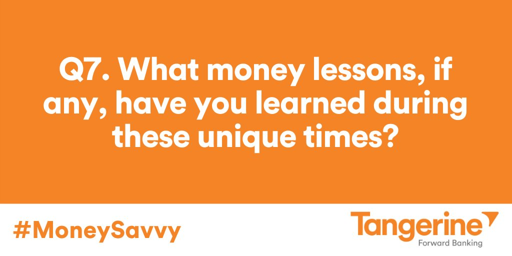 Q7. What money lessons, if any, have you learned during these unique times? #MoneySavvy https://t.co/tYrTqDXHsa
