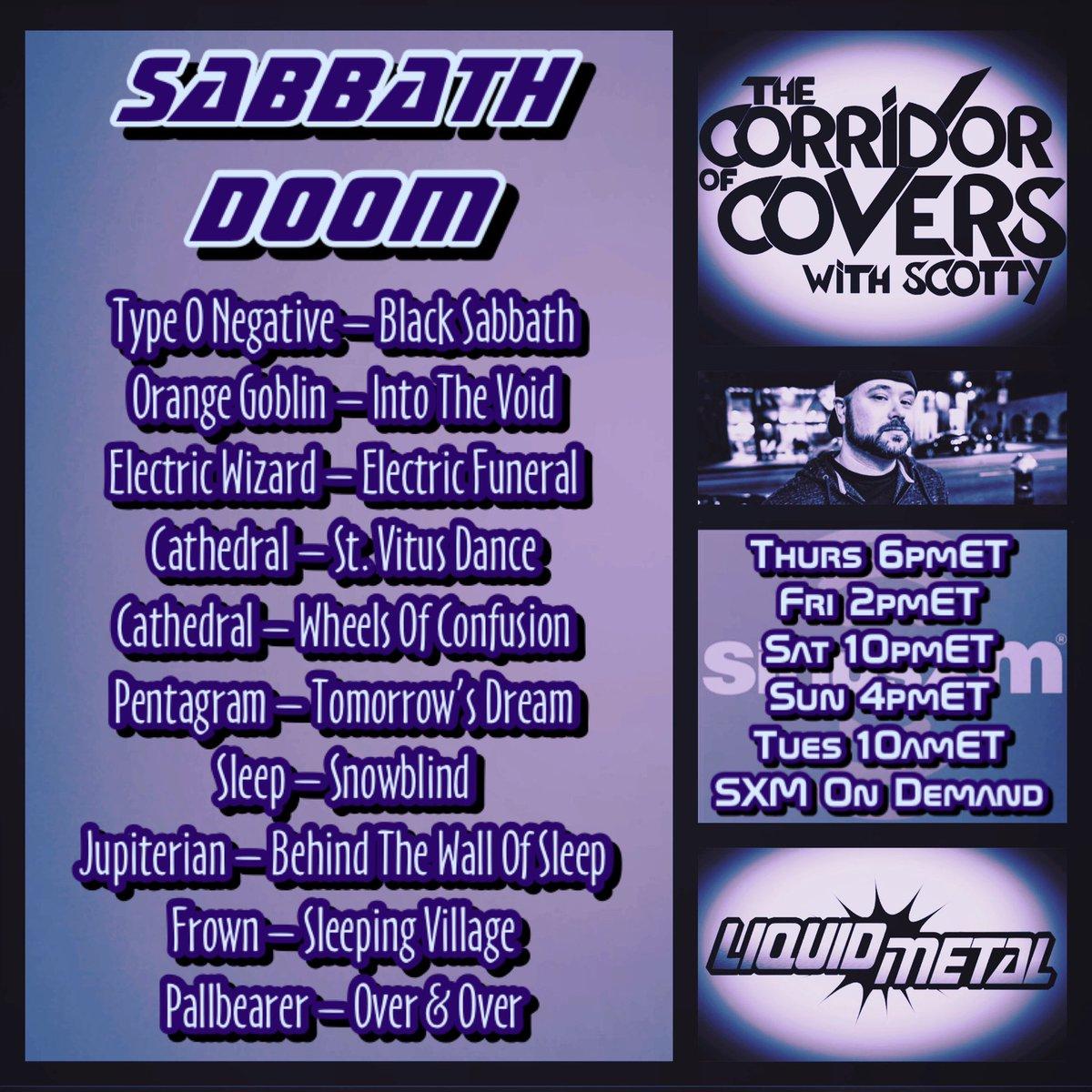 #corridorofcovers w/ #Scotty on #sxmliquidmetal .. all #blacksabbath #doommetal covers for the #undertaker last ride #metal #heavymetal #metalcovers #coversong #siriusxm #cathedralband #pentagramband #doom #sleeppic.twitter.com/AAc9Lii425