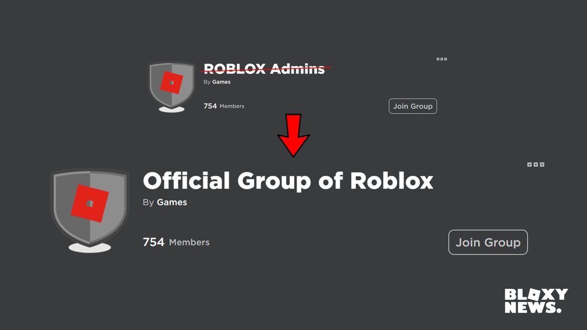 Roblox Admin Username Bloxy News On Twitter Small Change But The Official Roblox Admin Group Has Been Renamed To Official Group Of Roblox Since More Than Just Admins Are Now Apart Of The Group Remember