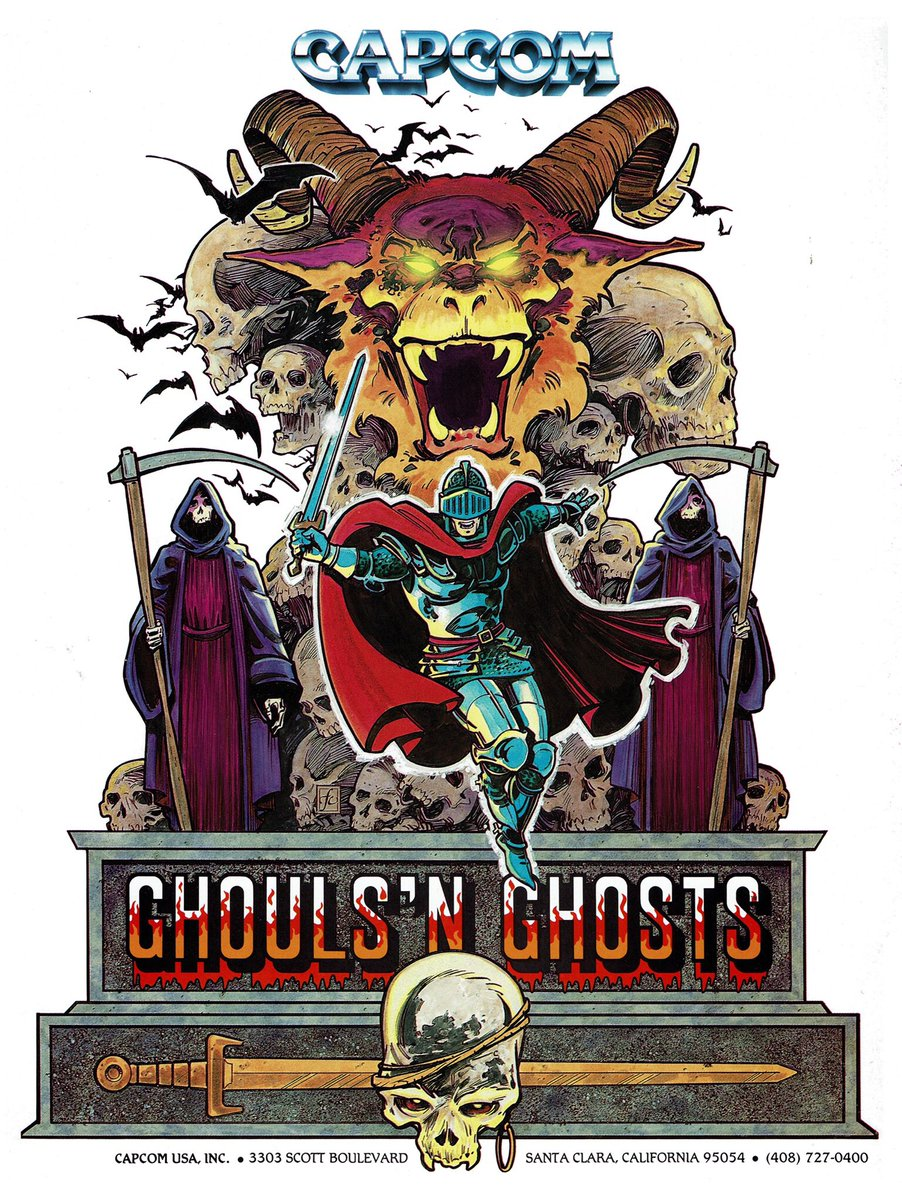 Ghouls 'n Ghosts (arcade) promotional artwork.pic.twitter.com/FPW9ai5fVA