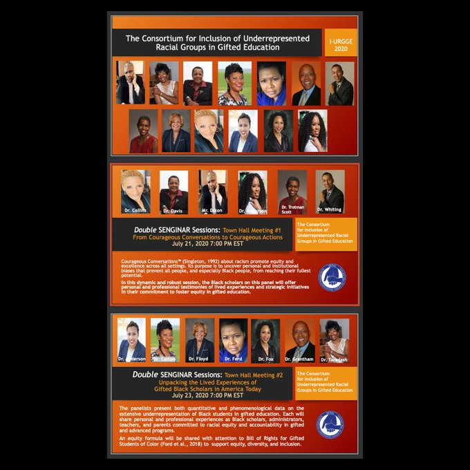Join SENG for two exclusive panel discussions with 13 leading Black Scholars in Gifted and Talented Education as they share their personal testimonies, strategies & practices. https://t.co/d3tt2utyhC https://t.co/gufDvpYvBW
