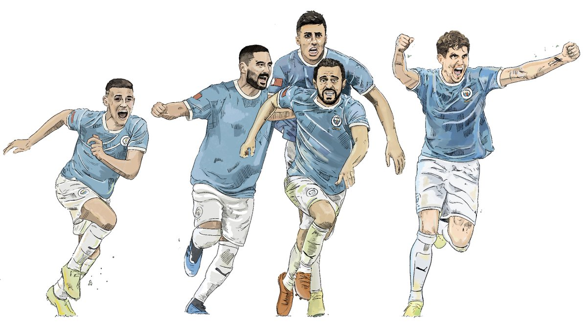 I really enjoyed working on this set of portraits for @ManCity https://t.co/G18TdL7O0T