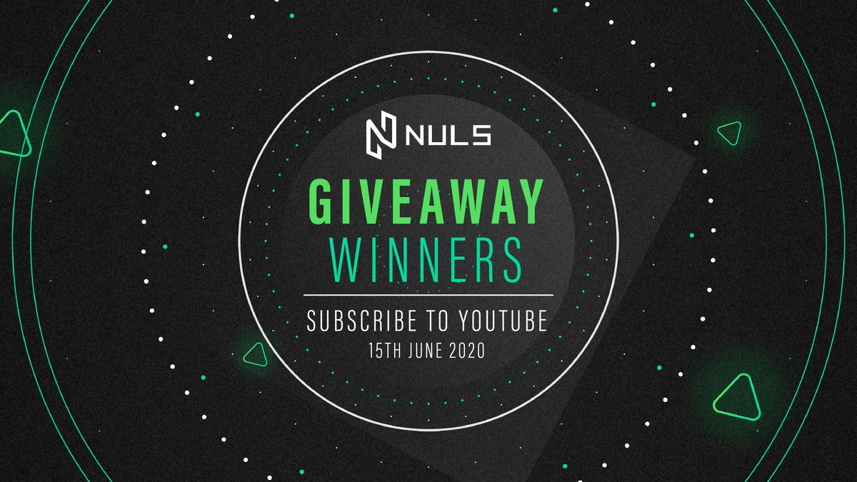 We would like to thank everyone who participated in our Subscribe to YouTube giveaway on June 15th. Huge congratulations to all of the winners below! Distribution of funds will be sent within 48hrs. Keep an eye out for more giveaways in the near future. #NULS #Giveaway