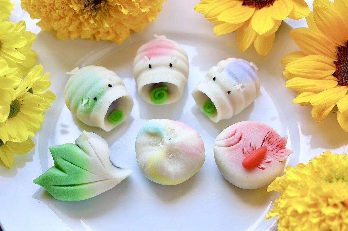 -3匹の子ブタ蚊取り線香-  夏の和菓子です。 個人的には三匹のブタの蚊取り線香がポイントです笑 暑くなってくるとかゆくなる虫も出てきますね! 蚊取り線香の和菓子が虫よけになるといいんですけどね笑  #和菓子 #上生菓子 #タダヒロ   #ただひろ  #山形 #蚊取り線香 https://t.co/RN1y5L9RTz