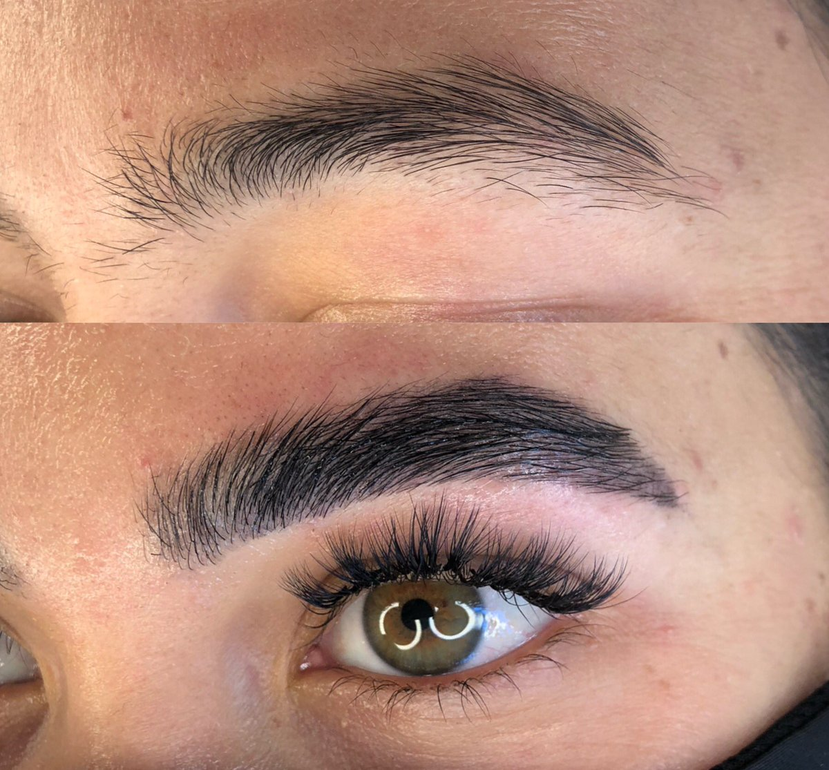 Brow Lamination before and after pics 😍