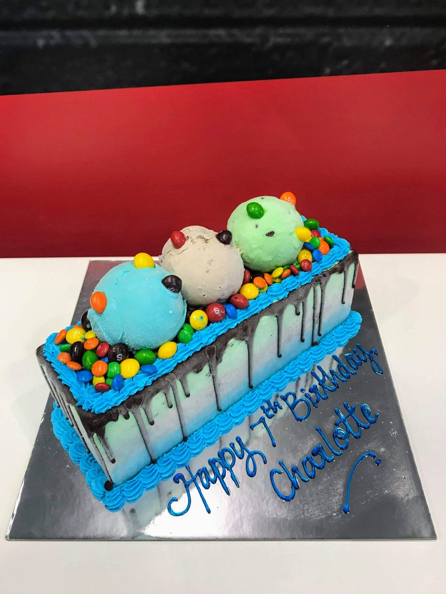 Ice Cream cake by Cold Rock Aspley. Call us on 0417 115 707 to place your order. #brisbane #coldrock #fridays #dessert #weddingcake #food #chocolate  #party #love #happybirthday #cake #celebrate #happy #drawing #relationships #icecreamcake