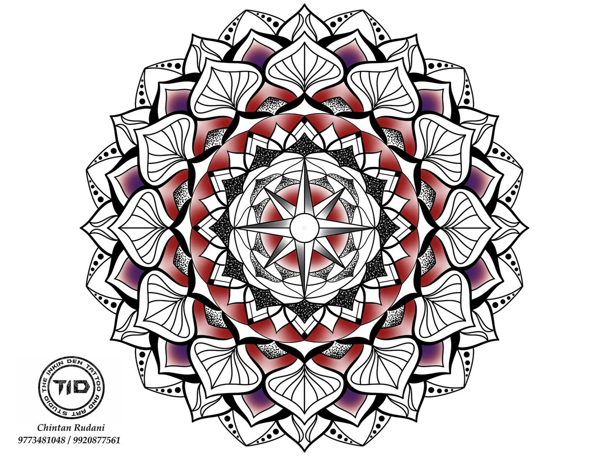 Compass Mandala Tattoo Design . . Design by @theinkinden @chintanrudani . . #mandala #compass #mandalaart #beautiful_mandalas #compasstattoo #tattoodesigner #artist #tattooartist #tattoolover #tattoolife pic.twitter.com/q9syMRqMlW – at The Inkin Den Tattoo And Art Studio