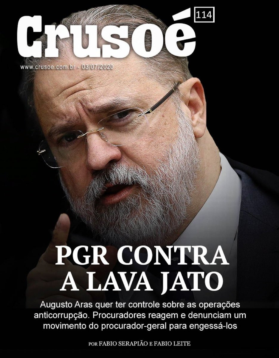 "Felipe Moura Brasil on Twitter: ""É a capa da Crusoé. ""O poder ..."