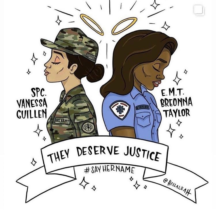 #JusticeForVanessaGuillen #JusticeForBreonna #BlackLiveMattters #ongd https://t.co/S8p9mDy8qp