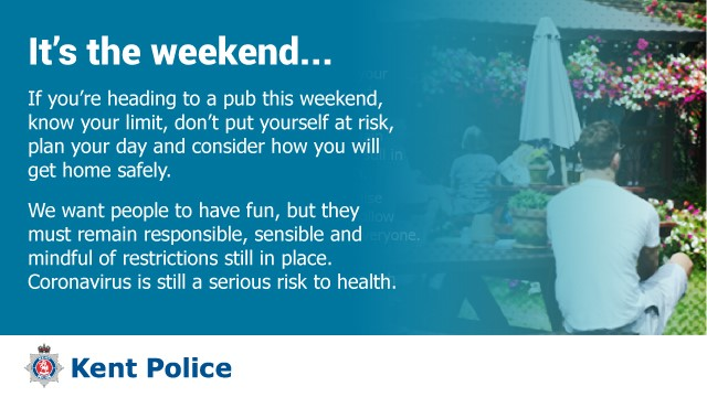 We are urging the public to take a sensible and responsible approach when bars, pubs and restaurants reopen on the 4 July. https://t.co/J3zHk47W1H #protectkentandmedway #KentTogether https://t.co/UC778RLQ2N