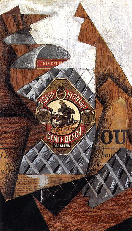 The Bottle of Anis del Mono, Juan Gris @artist_gris, 1914 #syntheticcubism #juangris<br>http://pic.twitter.com/jc10QzxYWU