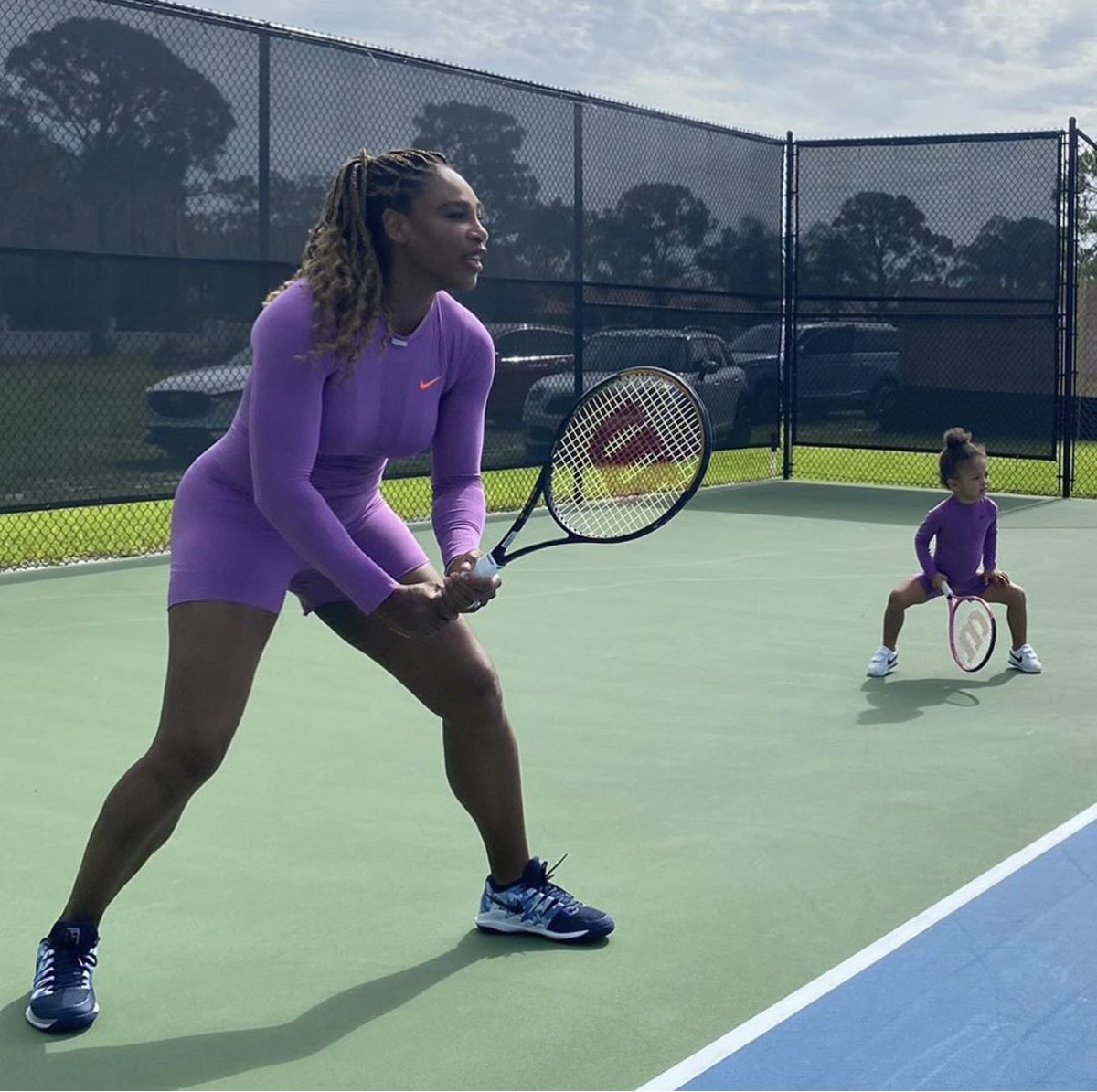 Serena Williams starting her two-year old daughter Olympia off early A legend in the making 💜