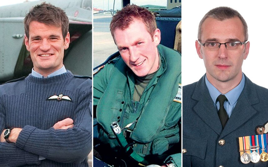 Today it is with a heavy heart that we remember:   Sqn Ldr Sam Bailey (right) Flt Lt Hywel Poole (left) Flt Lt Adam Sanders (centre)  They tragically lost their lives in an accident over the Moray Firth 8 years ago, on Tue 3 July 2012.  They are never forgotten. https://t.co/EMdKxvusLd