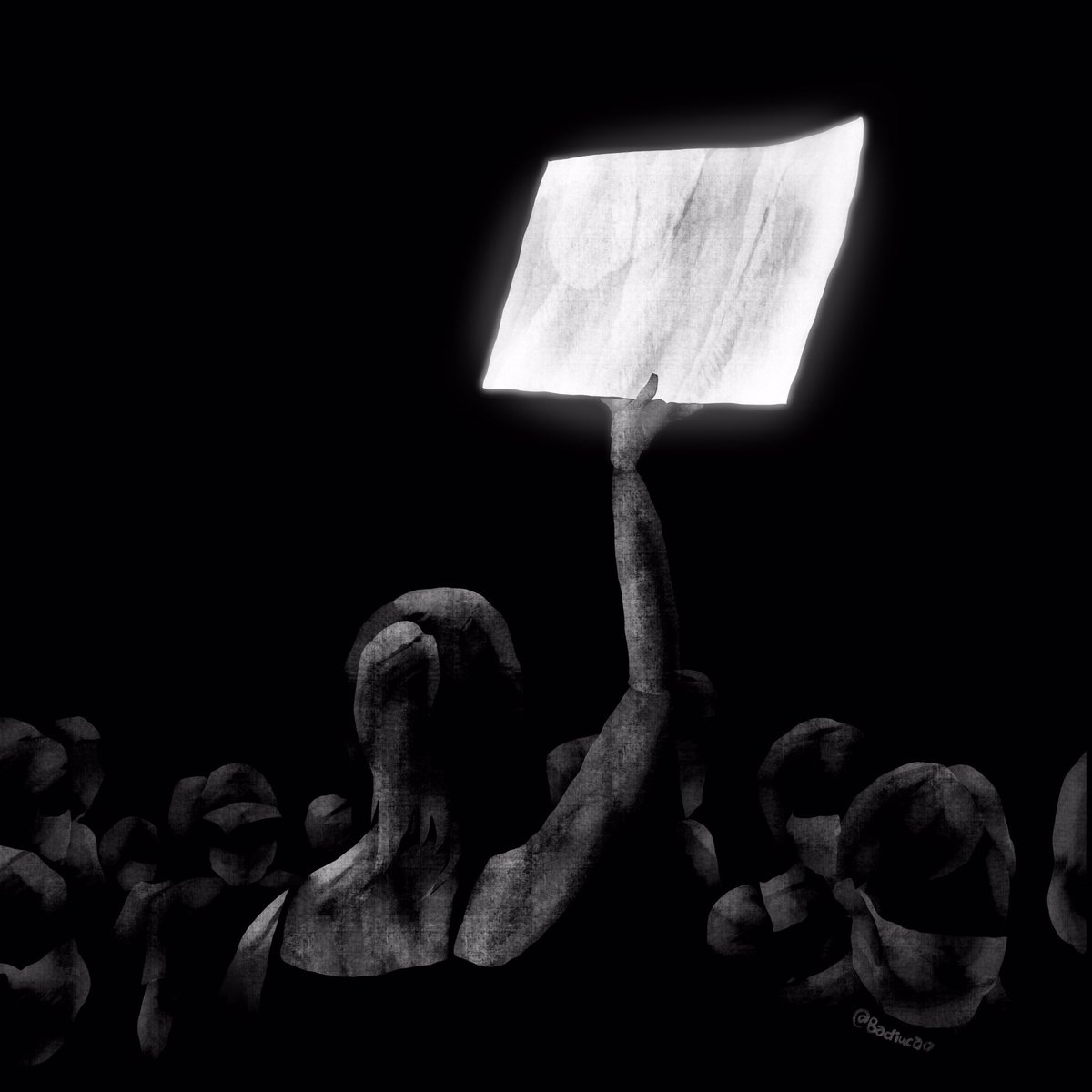1. #WhitePaperProtest 白纸抗议  In the latest #HongKong protest, a girl holds a piece of blank white paper as demonstration due to the fear of any slogan could make her a target of China's new #NationalSecurityLaw. And this is my art take on it, we all know what it means! https://t.co/BOfAjwoh8z