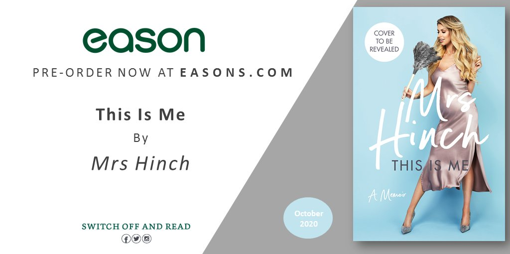 'This is me: Soph - the wife, the mother and the person behind Mrs Hinch.'  Pre-order Mrs Hinch's brand new memoir 'This Is Me' publishing this October online now at Eason --> https://bit.ly/2ZpCi52  @PenguinIEBooks   #mrshinch #cleaning #HinchYourselfHappy pic.twitter.com/gqld5ysUdJ