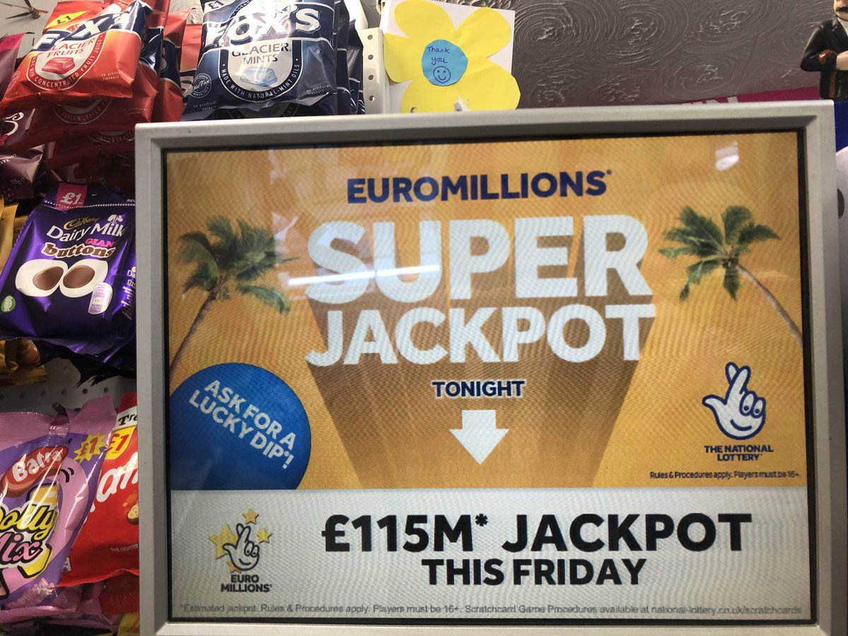 Tonight's Euromillions......SUPER JACKPOT IS £115M ......and it could be yours at Diamonds 💎♦️💎♦️